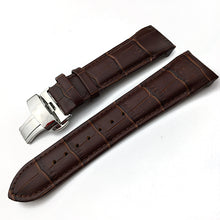 Load image into Gallery viewer, Calfskin Genuine Cow Leather Watchband Belt For Tissot T035 Watch Strap Bracelets Butterfly Buckle Replacement 22mm 23mm 24mm