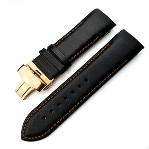 Calfskin Genuine Cow Leather Watchband Belt For Tissot T035 Watch Strap Bracelets Butterfly Buckle Replacement 22mm 23mm 24mm