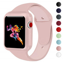 Load image into Gallery viewer, ASHEI Sport Watchband with TPU Case for Apple Watch Band 38mm 42mm iWatch 3 2 1 wrist Strap Soft Silicone Wrist bracelet