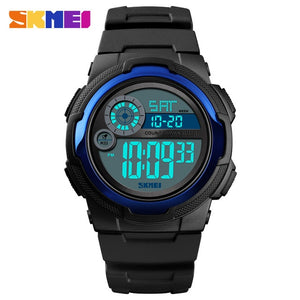 SKMEI Digital Watch Men 2019 Sport Watch Fitness Stopwatch Waterproof Wristwatch PU Alarm Clock erkek kol saati New Men Watches