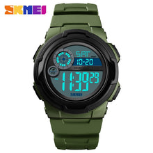 Load image into Gallery viewer, SKMEI Digital Watch Men 2019 Sport Watch Fitness Stopwatch Waterproof Wristwatch PU Alarm Clock erkek kol saati New Men Watches