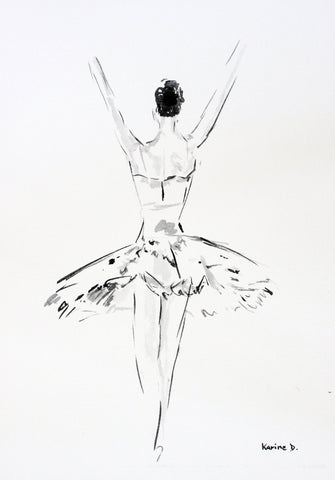 "Aquarelle ""Danseuse 2"""