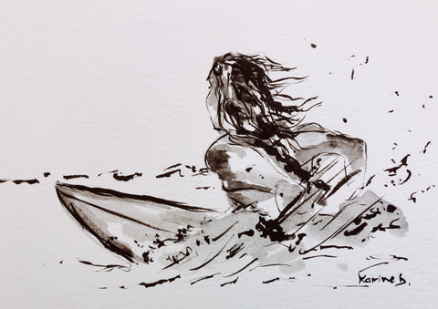 Aquarelle Surfing