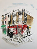 Aquarelle  « Golborne road 3 »