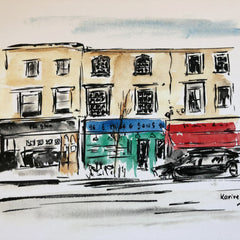 Aquarelle  « Golborne road 2 »