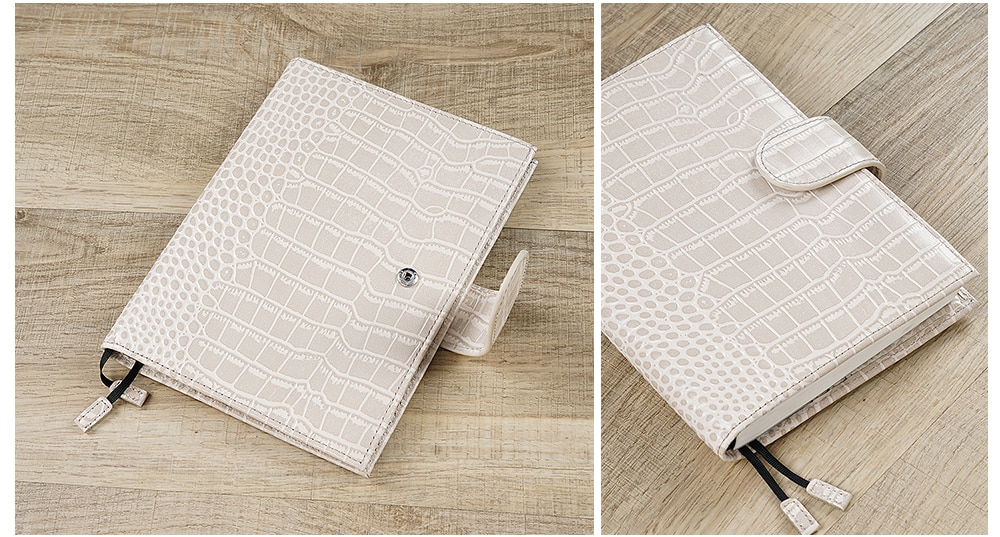 Moterm B6 CROC GRAIN Cover for Stalogy B6 Size Notebook Diary Planner LARGE Back Pocket - The Stationery Life!