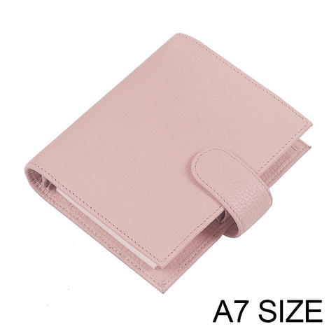 Moterm A7 Litchi Grain Genuine Leather 19mm Rings Planner Agenda Organizer Diary Journal Organizer - The Stationery Life!