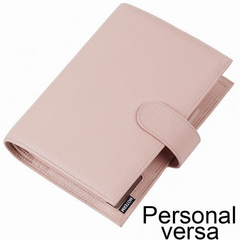Moterm Personal Versa Litchi Genuine Leather Planner 25 mm Rings Multifunctional Agenda Organizer Diary Journal LARGE BACK POCKET - The Stationery Life!