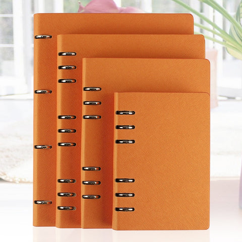 A6 A5 B5 A4 Vegan Leather Notebook Six-Ring Binder - The Stationery Life!