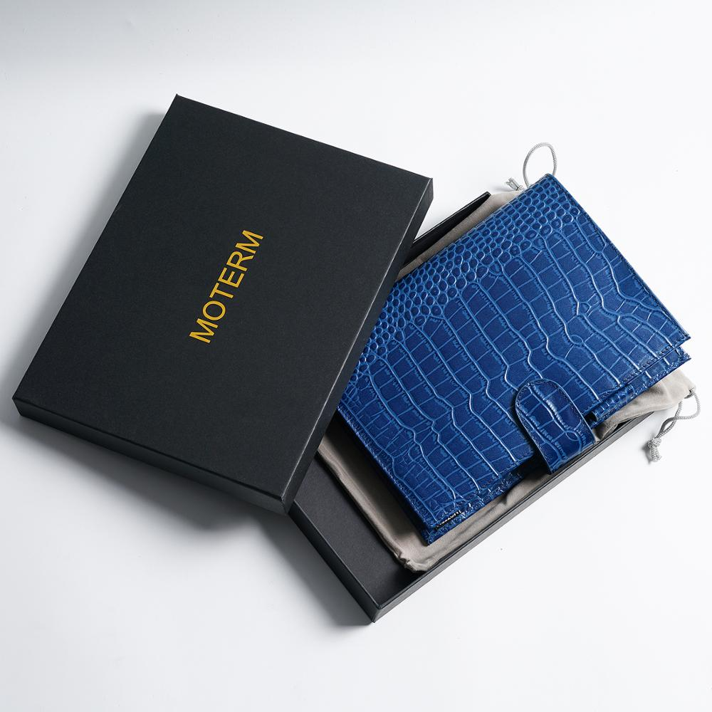 Moterm A5 CROC GRAIN Genuine Leather Original Notebook Cover Diary Planner Croc Grain Organizer - The Stationery Life!