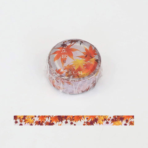 BGM Autumn Leaves Mabon Washi Tape - The Stationery Life!