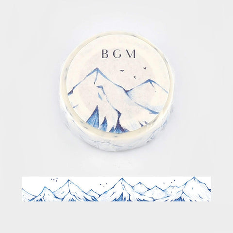 BGM Blue Mountain Japan Mountain Washi Tape - The Stationery Life!