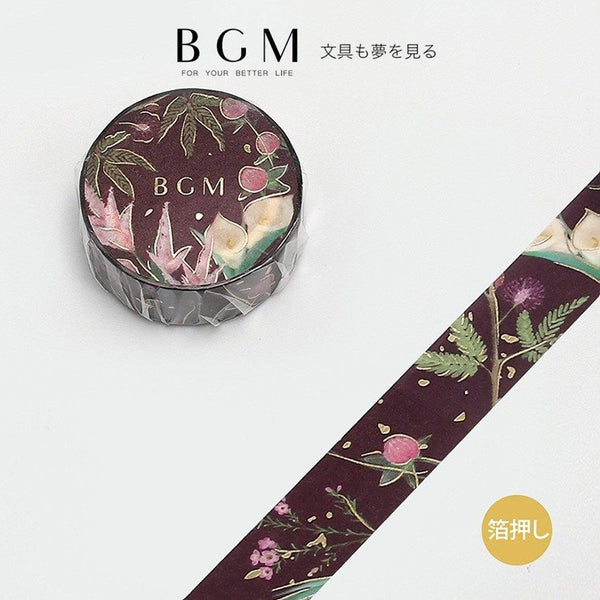 BGM Calla Lily GOLD FOIL Washi Tape - The Stationery Life!