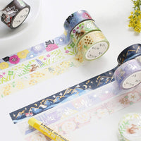 BGM Crayonland Series Blue Mountain Snow Mountain GOLD FOIL Washi Tape - The Stationery Life!