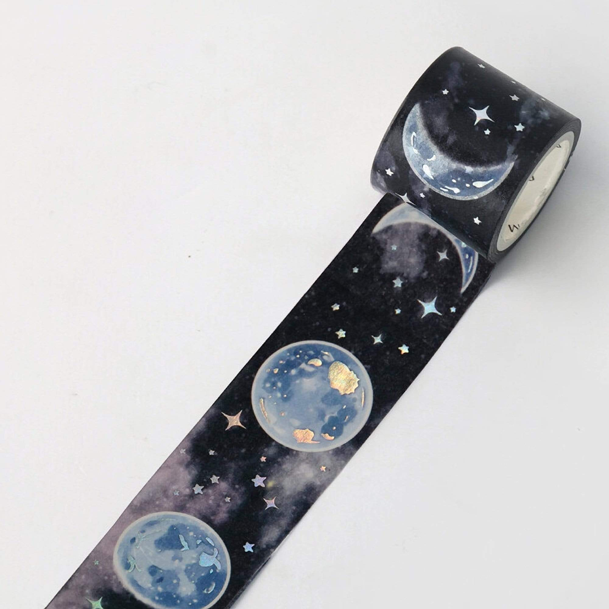 BGM Dark Planet Moon Gold Foil Washi Tape - The Stationery Life!