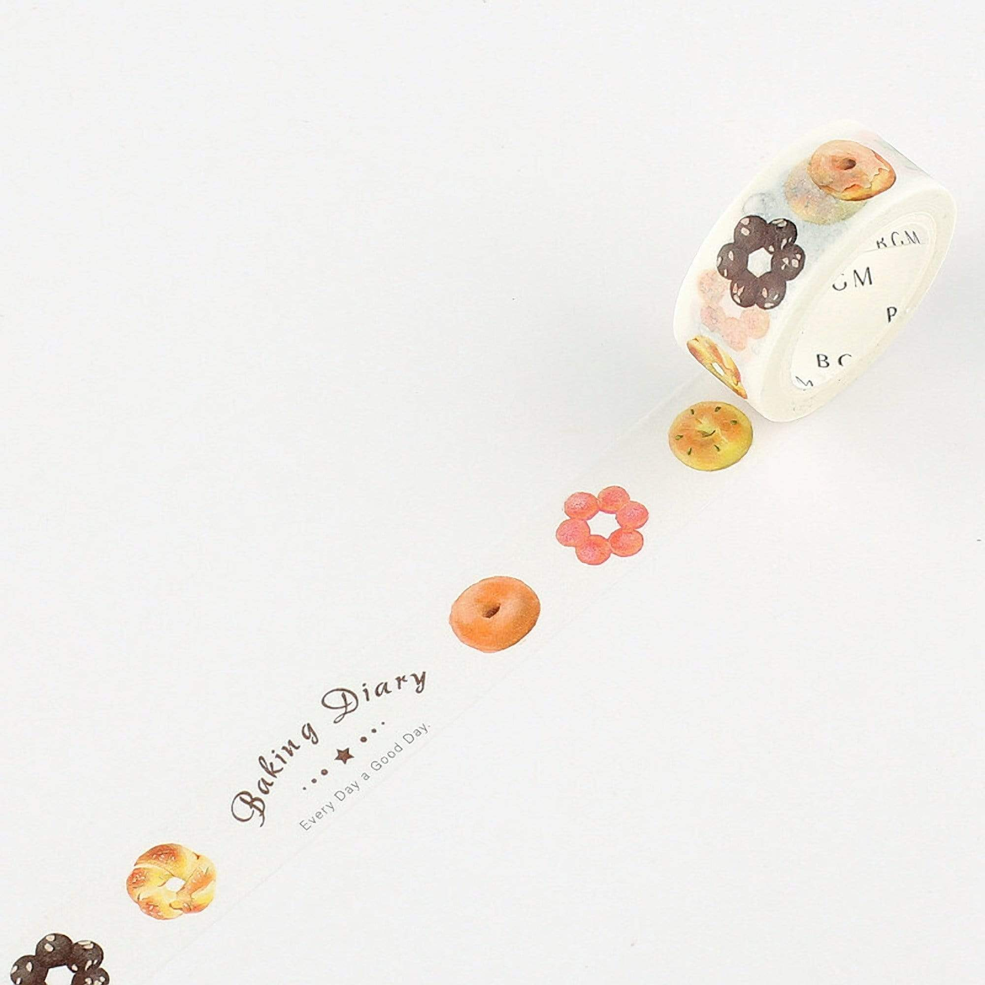 BGM Doughnut Donut Bakery Washi Tape - The Stationery Life!