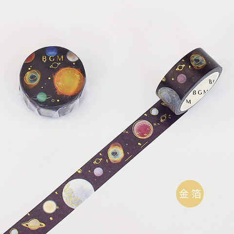BGM Gold Leaf Washi Tape Gold Planet Washi Tape - The Stationery Life!