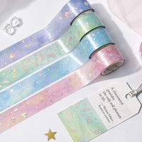 BGM Macaroon Galaxy Pink Heart GOLD FOIL Washi Tape - The Stationery Life!