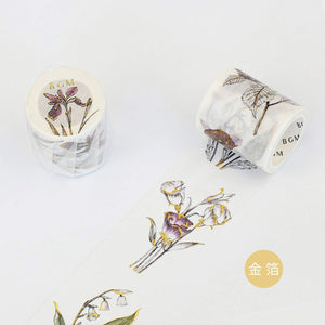 BGM Memory of Flowers Lily of the Valley Iris Washi Tape - The Stationery Life!