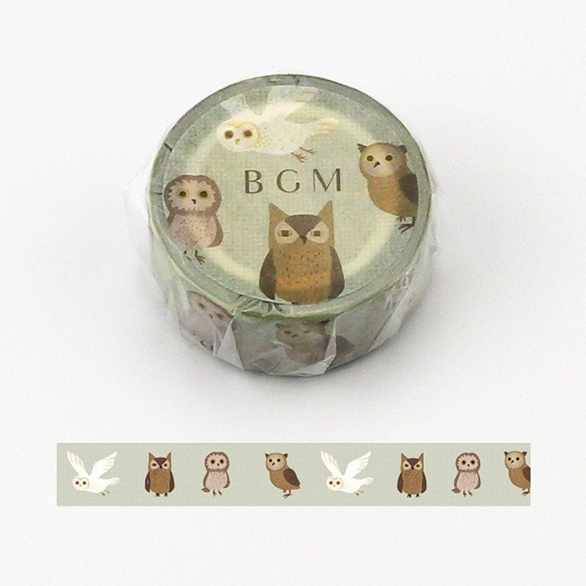 BGM Owl Washi Tape - The Stationery Life!