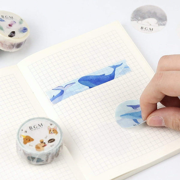 BGM Polar Bear Winter Washi Tape - The Stationery Life!