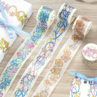 BGM Rainbow Lace Ribbon Lace Bows GOLD FOIL Washi Tape - The Stationery Life!