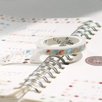 BGM Skinny Flowers Silver Foil Washi Tape | 5mm - The Stationery Life!