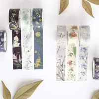BGM Spring Garden Iris Lilac Lavender GOLD FOIL Washi Tape - The Stationery Life!