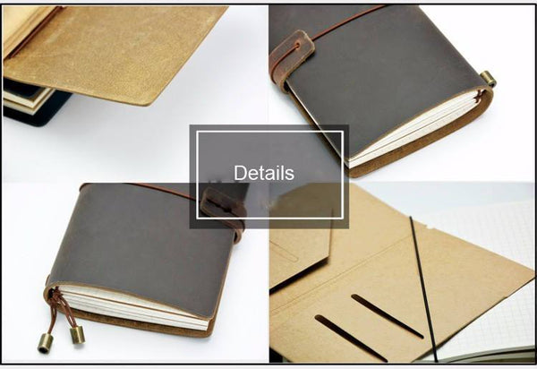 BLACK For Midori Leather Traveler's Passport Notebook Set - The Stationery Life!