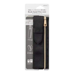 BLACK Midori Adjustable Book Band Pen Case B6 - A5 - The Stationery Life!
