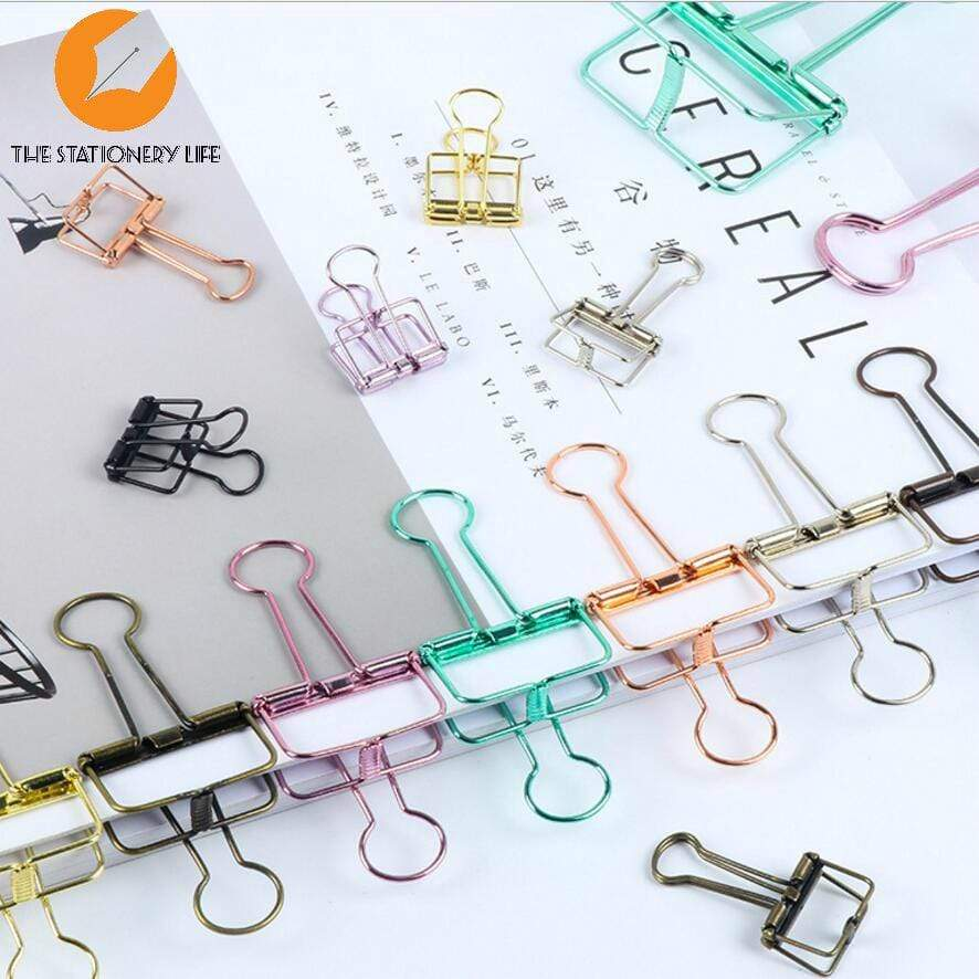 BLACK Skeleton Frame Hollow Binder Clips - Small, Medium & Large! Super cute and very strong! - The Stationery Life!