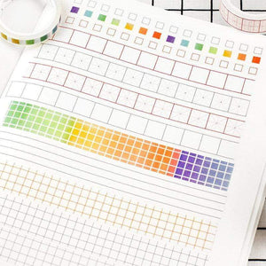Check boxes Washi Boxes Washi Rainbow Washi Tape - The Stationery Life!