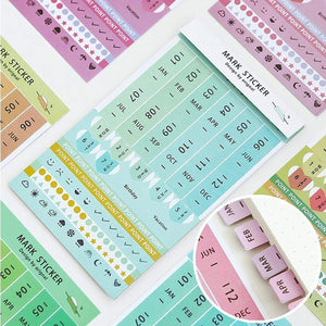 Colorful Four Colors Index Tabs Monthly Index Tabs Weekly Index Tabs Daily Index Tabs Self-Adhesive Tabs Planner - The Stationery Life!
