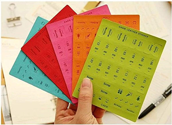 Colorful RED Cagie PU Leather Index Tabs Monthly Index Tabs - The Stationery Life!