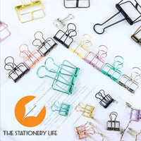 COPPER BRONZE Skeleton Frame Hollow Binder Clips - Small, Medium & Large! - The Stationery Life!