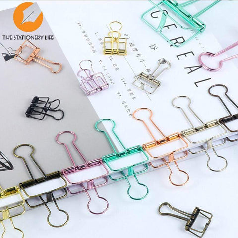 COPPER ROSE GOLD Skeleton Frame Hollow Binder Clips - Three Sizes! - The Stationery Life!