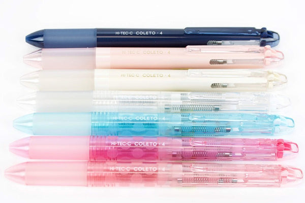 DOT BABY PINK Pilot Hi-Tec-C Coleto | 4 Color Multi Pen Body - The Stationery Life!