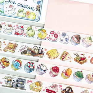 Food Boutique Washi Tape Dessert Washi Tape Seafood washi Tape Coffee Washi Tape Kawaii Washi Tape | Artist Designed & LIMITED EDITION - The Stationery Life!