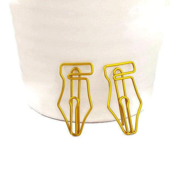 Fountain Pen Nib Paper Clip GOLD Nib Paper Clip - Super cute & very strong! - The Stationery Life!