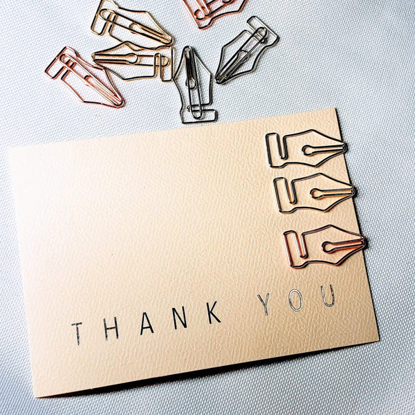 Fountain Pen Nib Paper Clip SILVER Nib Paper Clip - The Stationery Life!