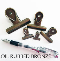 Gold Black Bulldog Binder Paper Clips - Five sizes & Seven Colors!! Super cute very strong! - The Stationery Life!
