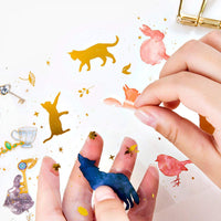 GOLD FOIL Clear PVC Animals Stickers - The Stationery Life!