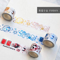Gold Foil Panda Washi Tape Gold Space Washi Tape Panda Washi Tape Cosmos Washi Tape - The Stationery Life!