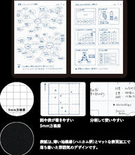 Load image into Gallery viewer, Kokuyo Campus Notebook Black 5mm Grid | Semi B5 40 Sheet