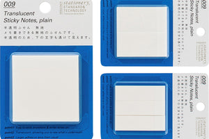 Stalogy Translucent Sticky Notes | Plain 50 mm