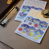 Gold Foil Index Tabs Planet Outer Space Planner Tabs Notebook Tabs Monthly Tabs - The Stationery Life!