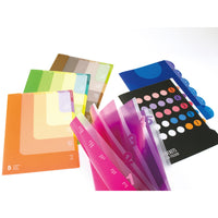 Midori MD A4 5 Pocket Clear Folder | Pink - The Stationery Life!