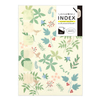 Midori MD A4 Single Pocket Index Clear Folder 2-Pack | Plants - The Stationery Life!