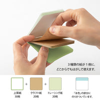 GREEN Midori Selectable Pickable Sticky Notes Transparent Sticky Note Kraft Sticky Note | 70mm - The Stationery Life!