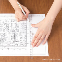 MIDORI BLUE Clear Polycarbonate Multi Ruler | 30 cm - The Stationery Life!